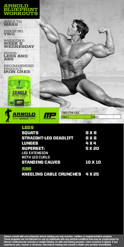 Blueprint workout pdf eoua blog musclepharm on twitter mp workout of the day arnold blueprint phase 2 legs and abs mpnation malvernweather Gallery