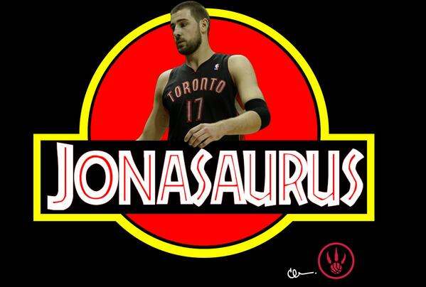 Them moves is JURASSIC! #RTZ @JValanciunas http://t.co/Cne4H8jwZp