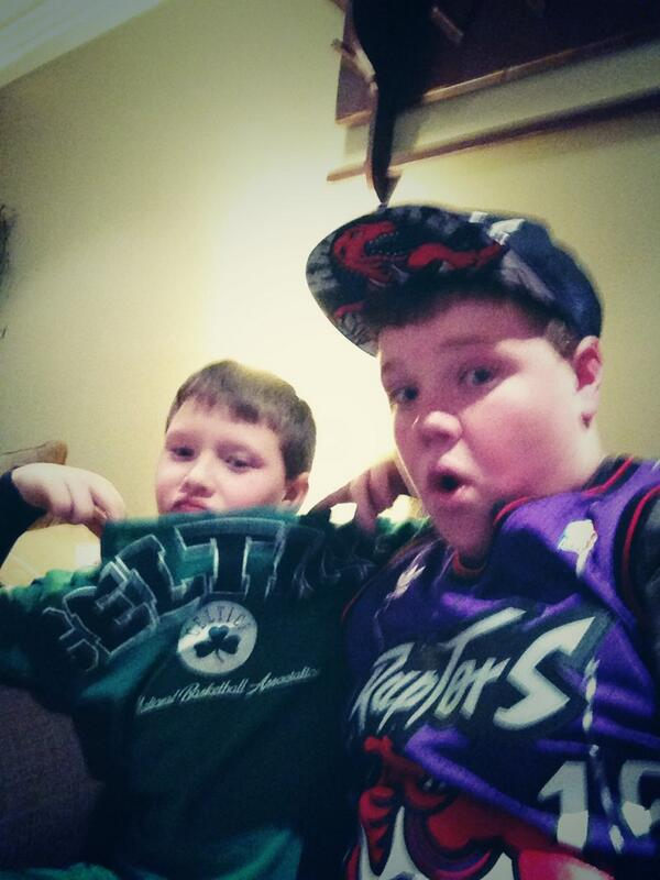 Brothers Divided for the @Raptors vs. the @celtics game tonight!!! #RTZ http://t.co/oAG52ECiK0