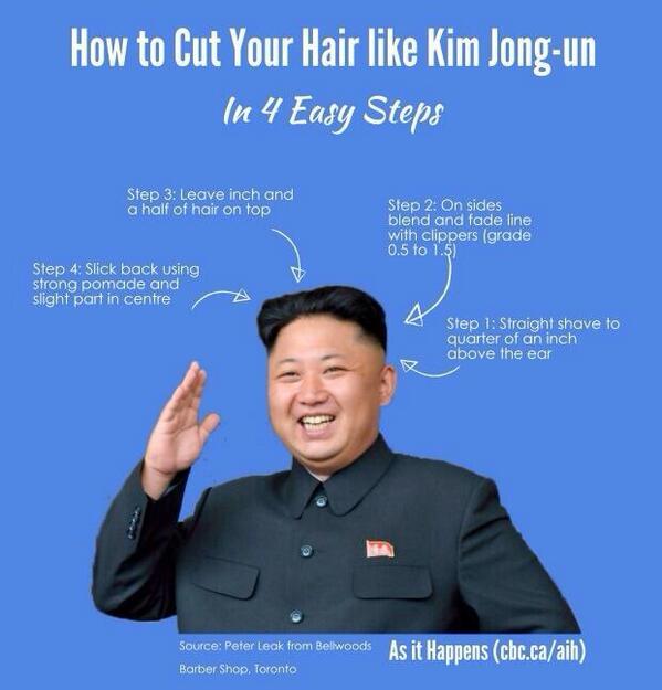 International Barber Association On Twitter The Kim Jong Un