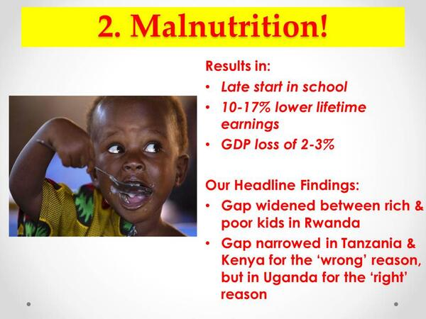 Malnutrition: First 1,000 days in a child's upbringing and what they eat determines its future. #SOEAR2013 http://t.co/q435nN6EfZ