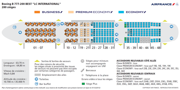 Flight report on twitter exclu nouveau plan cabine des for Interieur 777