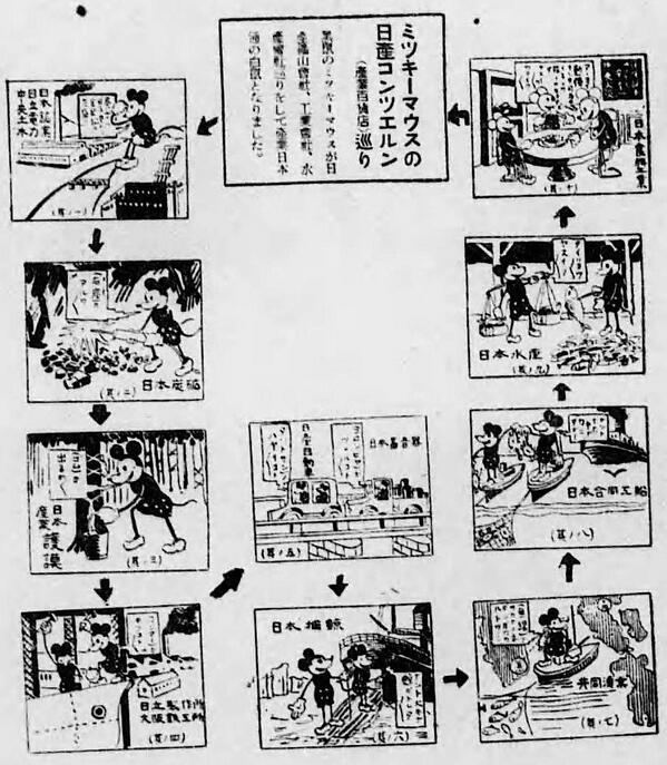 """松田洋子 auf Twitter: """"昭和11年 日産コンツェルンの新聞広告。黒鼠 ..."""