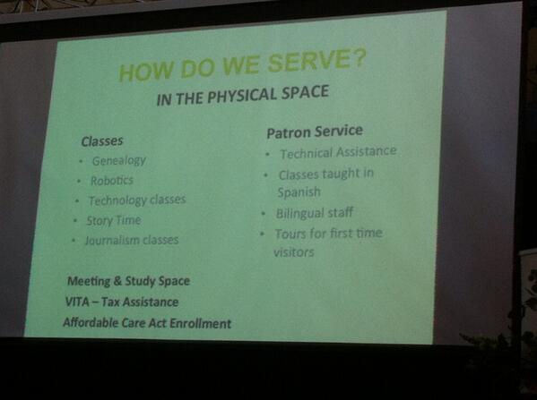 Bibliotech heeft (gelukkig) ook heel veel diensten en activiteiten in 'physical space' #BvdT http://t.co/AxxMoRRNda
