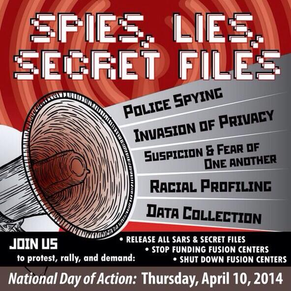 National Day of Action: Spies, Lies and Secret Files. Rally in Oakland!