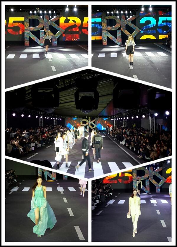 DKNY 25주년 패션쇼~24명의 탑모델과 2ne1 씨엘도 DKNY뮤즈로 당당하고 멋진모습으로 런웨이에 함께했다 ^^ http://t.co/KzOhPEw5WB
