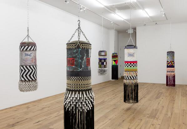 Everlast turns chic. How cool would it be to have these in the studio? Art by Jeffrey Gibson http://t.co/hMhaSRB4Rk