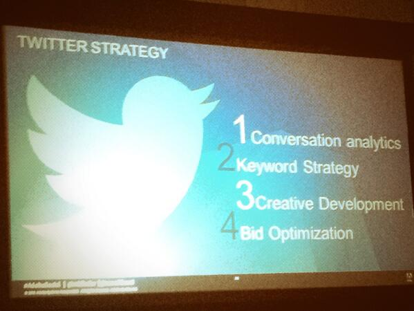@ewenz: Your new twitter ad strategy is your old search ad strategy #AdobeSummit  @mblinder @searchbeest http://t.co/v9gc3ybFZJ
