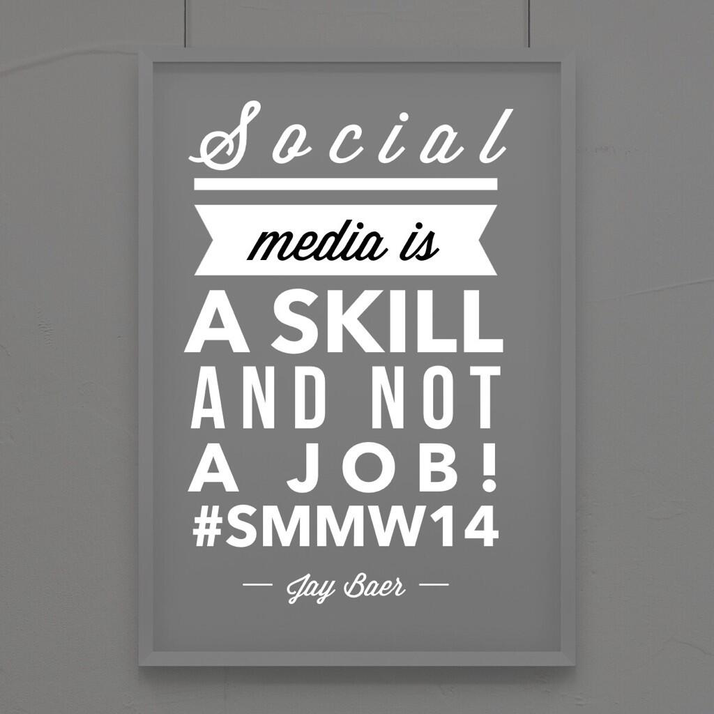 Twitter / kimgarst: Social media is a skill and ...