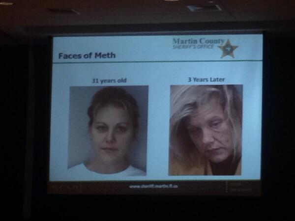 Crowd gasps as @MartinFLSheriff shows before and after photos of meth users. #MartinCounty http://t.co/J9VJlW9Ll4