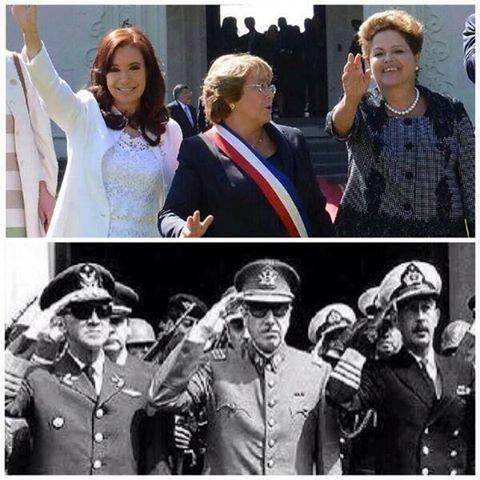 """That's what I call transformation: The presidents of Argentina, Brazil, and Chile today and in the 70's — @fp2p — http://t.co/Q4TdWgP12N"""""""