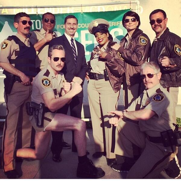 Reno 911 reunites for Todd Rogers. Vote for him for Sheriff of LA! #ToddRogersforSheriffofLA http://t.co/TMPdQYxAhI