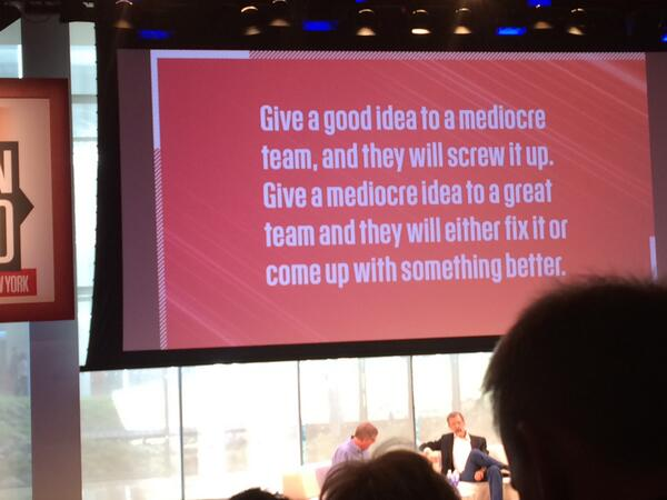 """@Interbrand: A great quote about having great teams from @DisneyPixar Ed Catmull's new book, #CreativityInc. #IUNY14 http://t.co/LVdgB02Z7f"