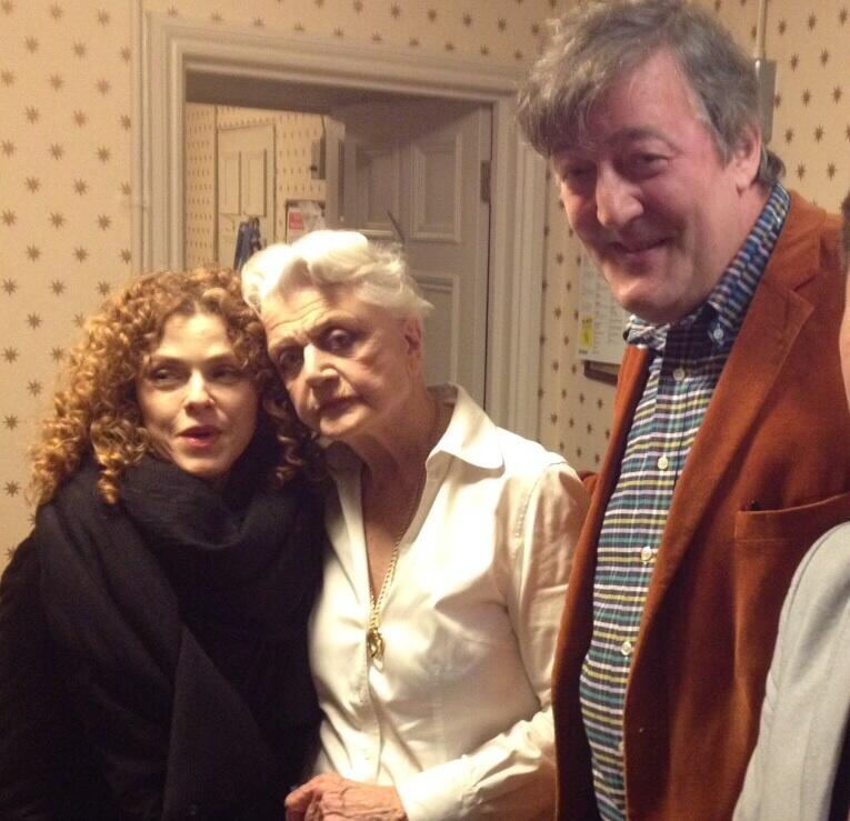 Dame Angela, Bernadette Peters and I. A simply brilliant performance from an 88 year old in great show #BlitheSpirit http://t.co/SibSwGJkWp