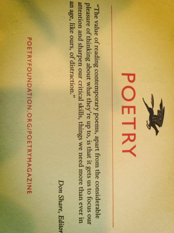 Some of the many benefits of reading poetry -rec'd this in the mail today from Poetry Magazine @don_share #nctechat http://t.co/GzDuQdDLHD
