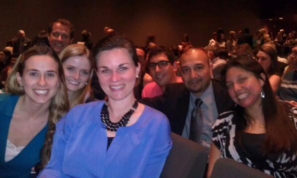 Students ready for Pres William Jefferson Clinton #CivilRightsSummit @TheLBJSchool http://t.co/xJ6LSq2EUC