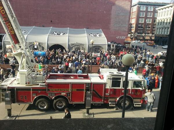 Normally, having a fire truck outside ur office window is concerning. NOT when it's an #FDIC2014 party! #firefighters http://t.co/PUByXRJTLf