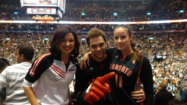 .@rapsfan_sheri, found 'em! Fans since '95, made their first trip to TO from Switzerland! Enjoy! @simon_galli #RTZ http://t.co/KmOFosztWv