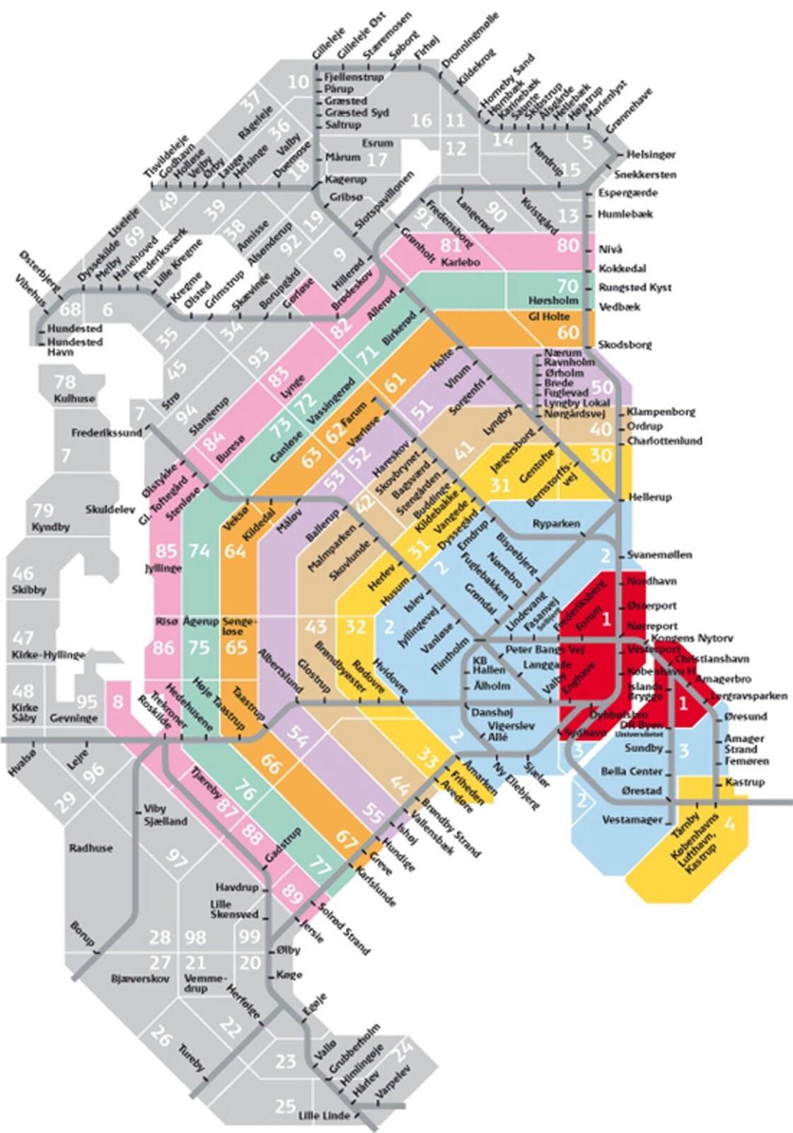 Dsb zonekort hovedstadsområdet