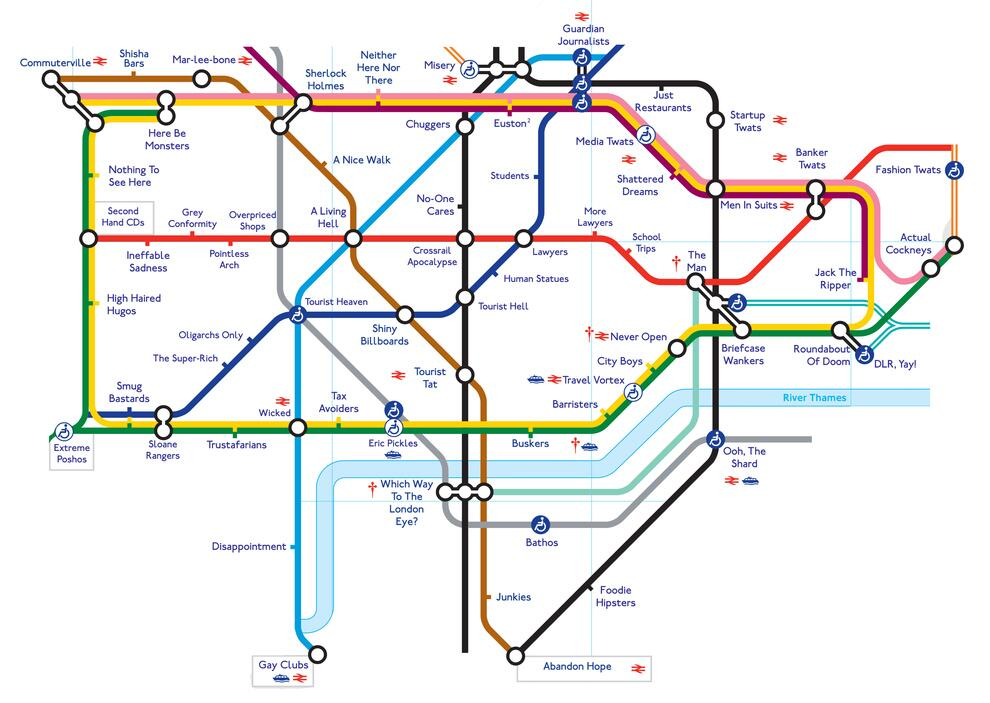 LWE on Twitter Enhanced tube map of London if it was named by