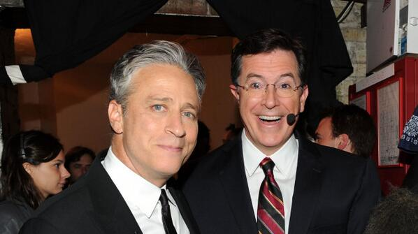 "Jon Stewart says Colbert would be a ""remarkable"" Letterman replacement http://t.co/ZZu4i1weEk http://t.co/u15YVJE2XX"