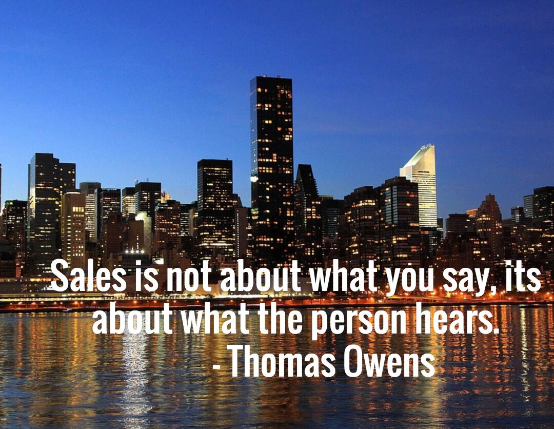 Twitter / networlding: Sales is not about what you ...