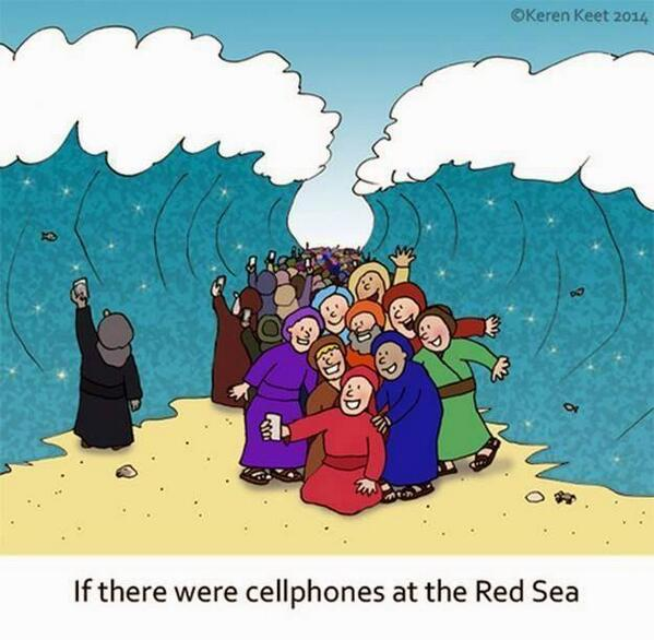 If the Israelites owned iPhones when they crossed the Red Sea... #funny #Passover http://t.co/ycQGhvp7Lk