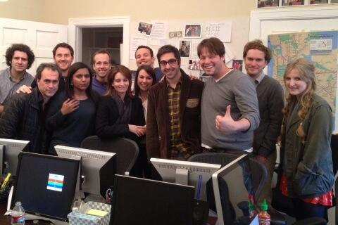 When 30 Rock and Mindy Project writers met. Led to 2 homicides and 3 pregnancies. #throwbackthursday http://t.co/A94ZWCrcmj