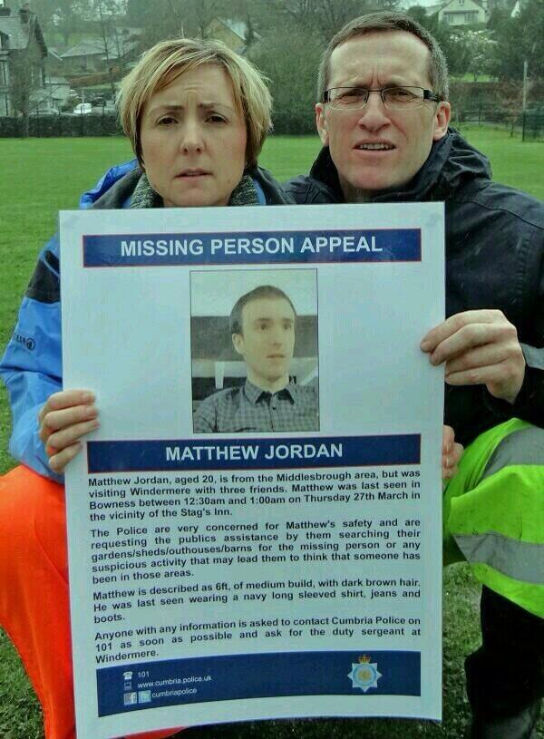 It will take a couple of seconds to RT this Tweet, please help #findmatthewjordan his mum and dad are devastated. http://t.co/c0LrZnJZWW