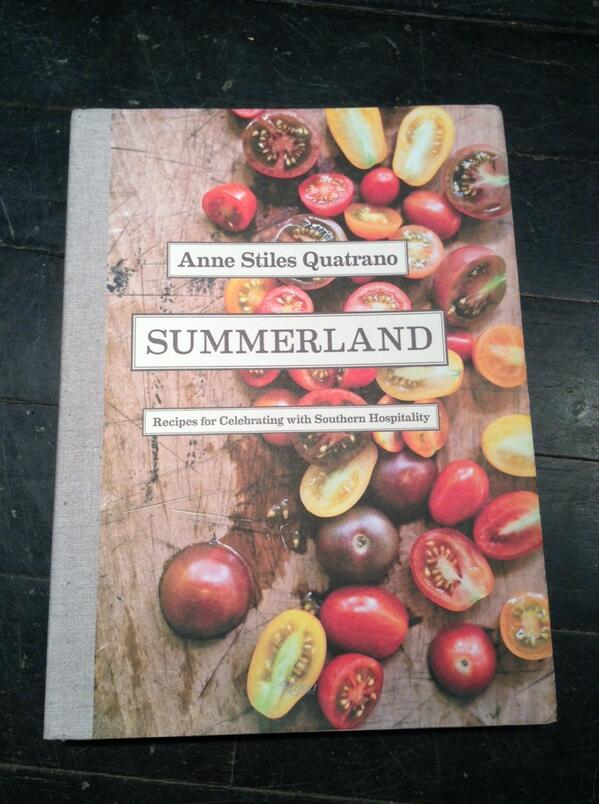 "How beautiful is @AnneQuatrano's ""Summerland"" cookbook? Congrats, Anne! http://t.co/TDDNaYKJSE"