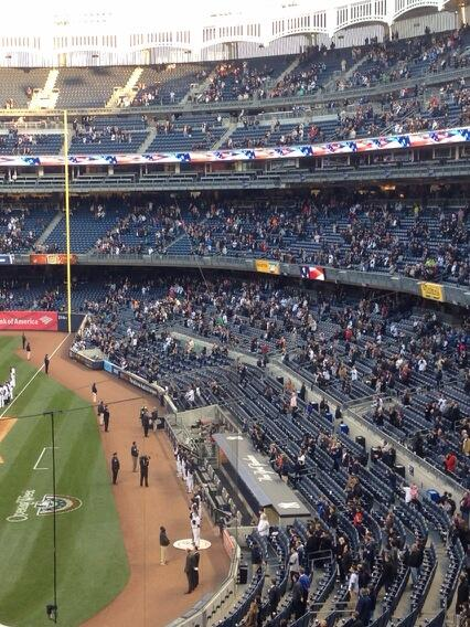 Brutal RT @ESPNNYYankees: Yankee Stadium just minutes before a Yankees-Red Sox game http://t.co/V3KaHtmDQs