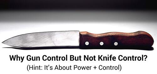Where are all the progressives calling for knife control?