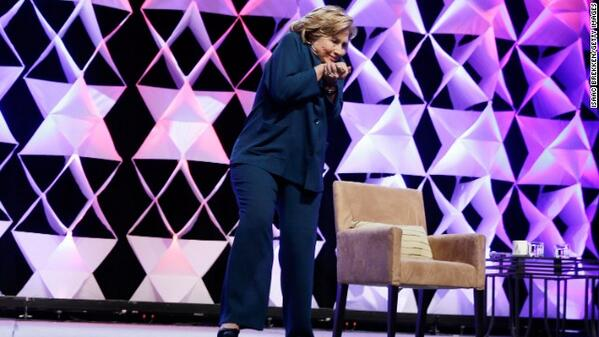 Woman throws shoe at Hillary Clinton during Las Vegas speech
