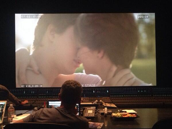 @JoshBooneMovies creating magic on the final mix stage of #tfiosmovie The countdown to June 6 begins! @realjohngreen http://t.co/yETfEJmhBo