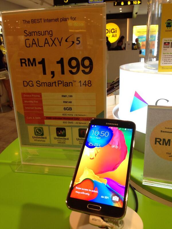 First 55 To Get The Samsung GALAXY S5 At DiGi Store Sunway Pyramid Gets RM200 Off Hurry MYSG5 Tco UKHwySDyCP