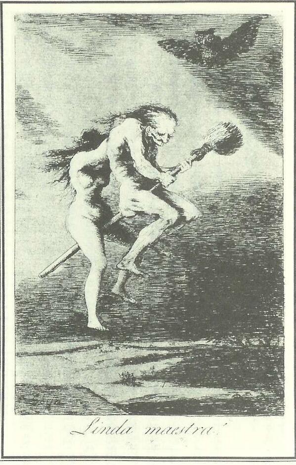 [かわいい先生] フランシスコ・デ・ゴヤ (スペイン、18 - 19世紀、エッチング及びアクアティント版画。The Harvard University Art Museums)。[魔女の鉄槌の周辺 - Whom for The Witch hammer (part II), Witch or Heretic ?]