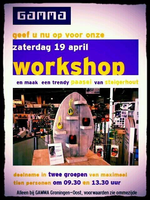 Wandbord Steigerhout Gamma.Gamma Groningen Oost On Twitter Zaterdag Workshop Wandbord