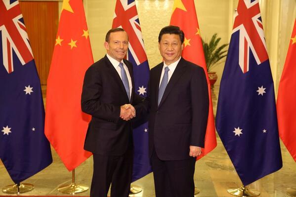 Tony Abbott meets Xi Jinping (photo by Tony Abbott on Twitter)