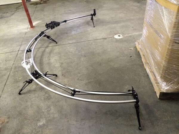 Post NAB product sneak peek. One of many that did not make  it to the show. 8′ 12′ 18′ radius rail http://t.co/nFwdw2OtFx