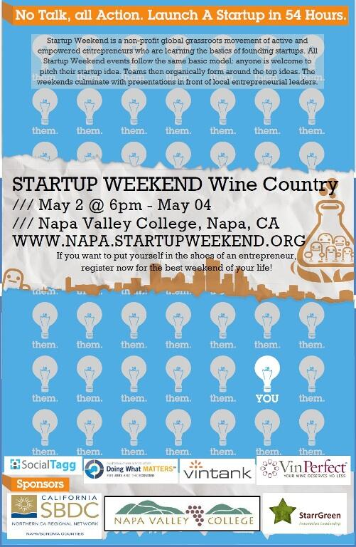 Looking for more information about Startup Weekend Napa? Look no further. Pls RT http://t.co/mWo1B6vxiD