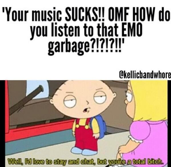 Tells you your music sucks so does his band