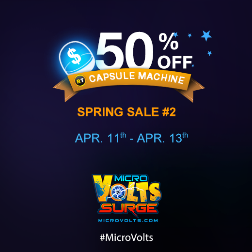 Spring Sale #2: Get 50% OFF selected items in the Capsule Machine from Apr. 11 - 13! Check out http://t.co/waKfl9FTsL http://t.co/H48AD4nWVC