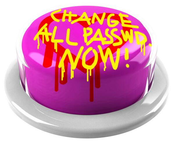 Change all your PASSWORDS with a single press of a button!! NOW!! by @fffffat LAB http://t.co/FPNrvKOgem #HEARTBLEED http://t.co/POeTusOA7O