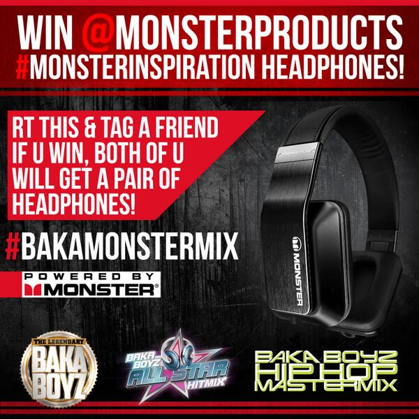 Win @MonsterProducts #MonsterInspiration! RT this & tag a friend & if u win both of u will get a pair of headphones! http://t.co/Z1lna4oHP6