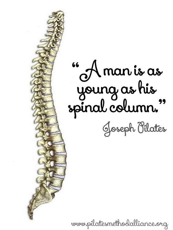 """A man is a young as his spinal column."" Joseph Pilates http://t.co/GIrHKtLBGT"