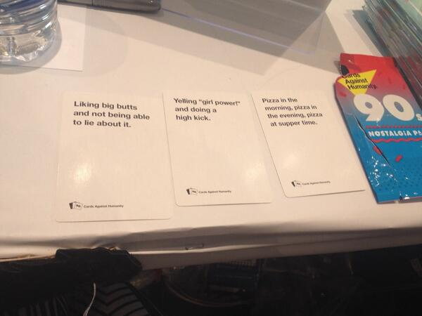 Currently we are laugh-out-loud-ing at the @CAH 90s nostalgia cards http://t.co/aml2766mmA