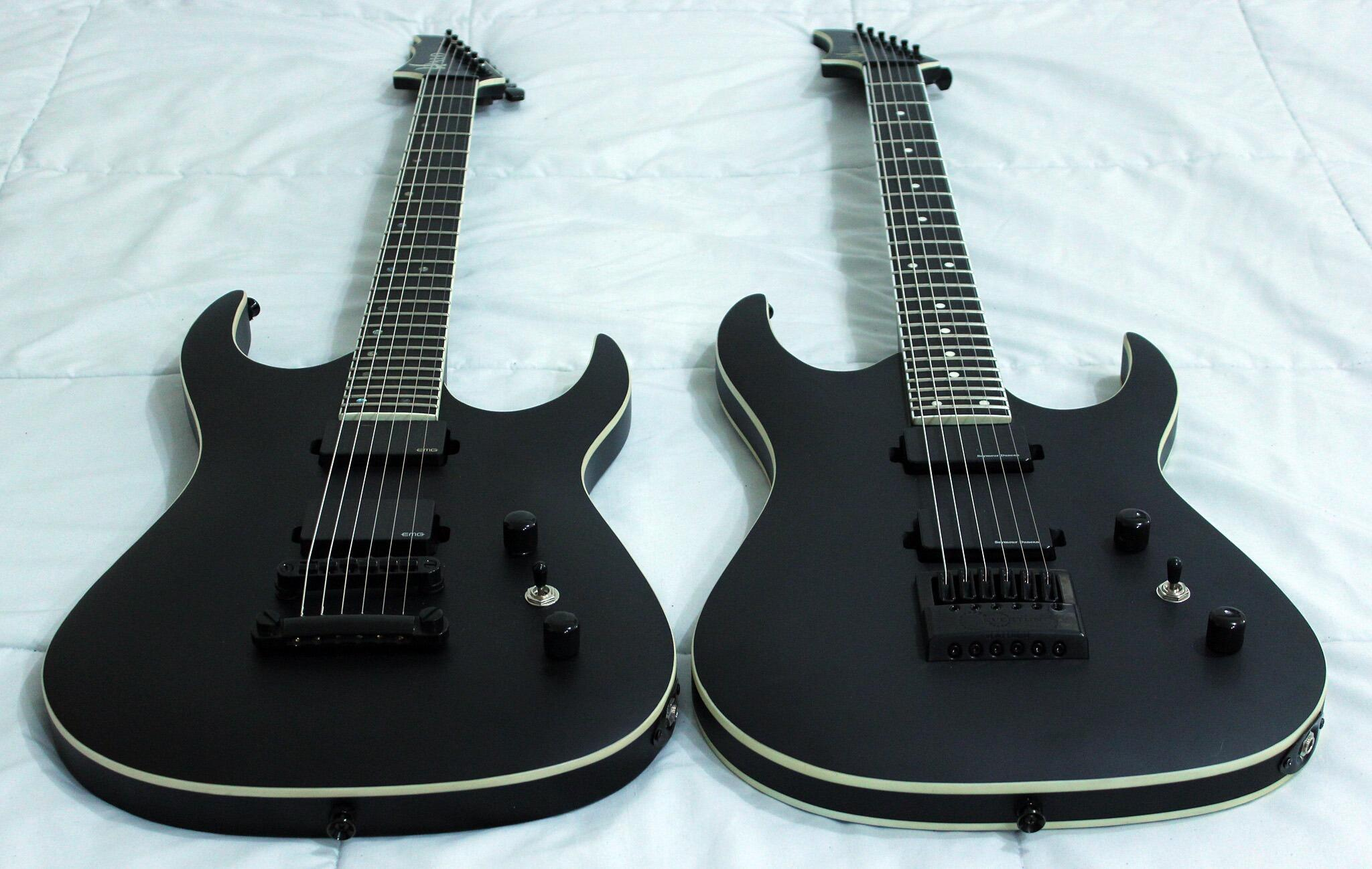 halo custom guitars on twitter merus 6 with emg pickups and tom bridge vs merus 6 with. Black Bedroom Furniture Sets. Home Design Ideas