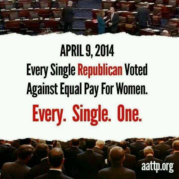 Don't Forget This Day On Election Day ~Everyone Who Has An Ounce Of Respect For Women~ #EqualPayForWomen http://t.co/lO8kHpjU2f