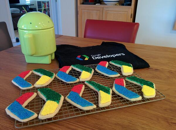Today is my 5 year Google Anniversary! Hard to believe. Celebrating with tasty treats courtesy of my awesome wife. http://t.co/5O2Nf9IQTa