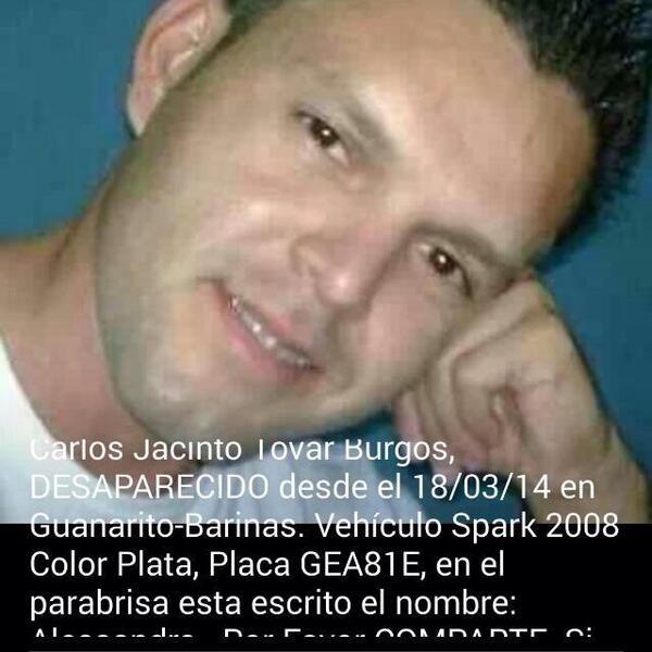 """@andreina_arraez: Por favor ayúdenme a correr la imagen, hoy 30/03/14 12 días desaparecido http://t.co/WNSmeOtBK4"""